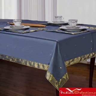 Handmade Dark Gray Sari Table Cloth (India)