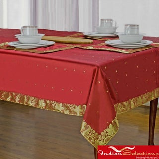 Handmade Fire Brick Sari Table Cloth (India)
