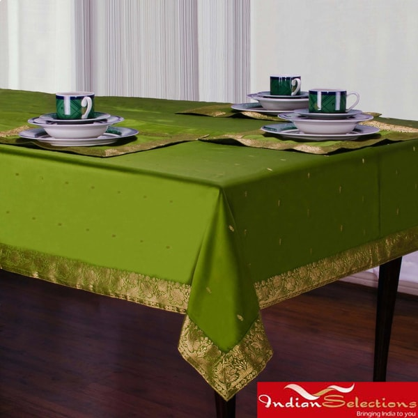 Handmade Forest Green Sari Table Cloth India 14715143  : Handmade Forest Green Sari Table Cloth India 3cda5055 48f5 4b6d 9401 ebfcf806eb8e600 from www.overstock.com size 600 x 600 jpeg 74kB