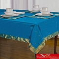 Handmade Island Blue Sari Table Cloth (India)