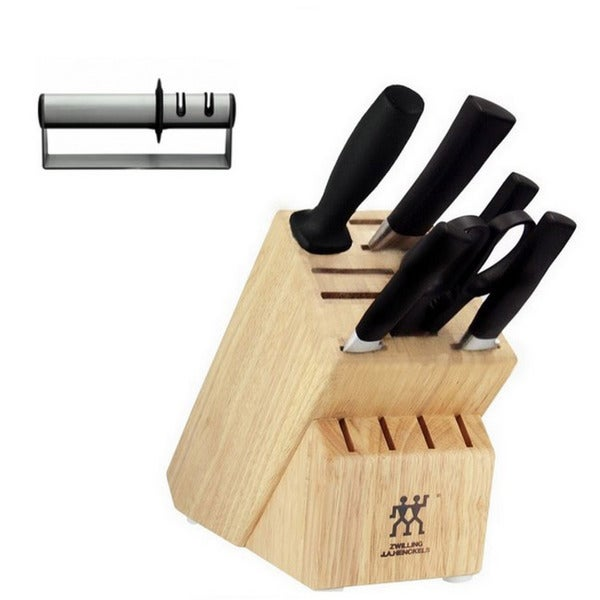 J A Henckels Zwilling One 7-piece Block Set with Sharpener