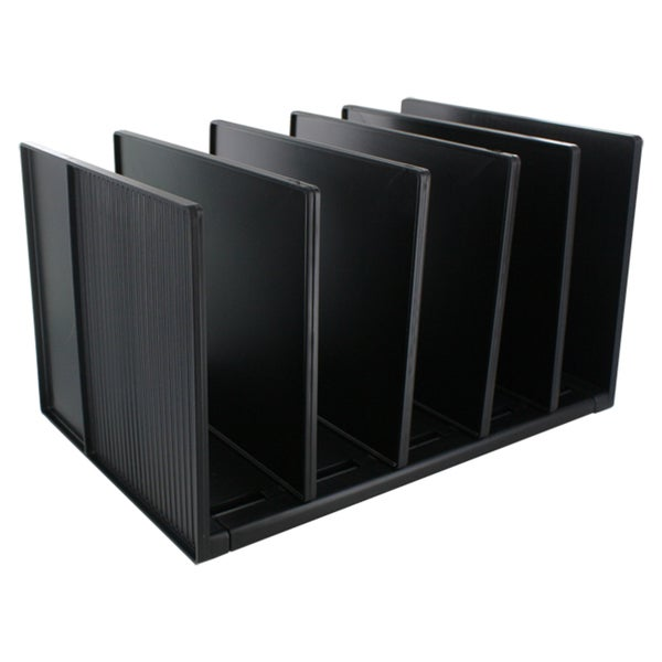 Eldon Black Vertical Desk Divided Organizer