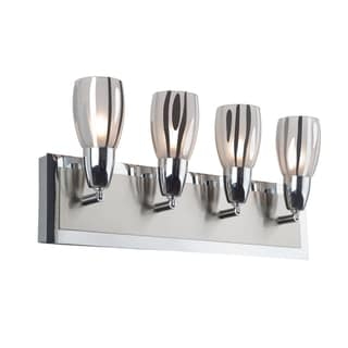 Alternating Current Chroman Empire 4-light Chrome Bath Fixture