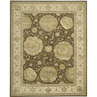 Nourison 3000 Hand-tufted Brown Rug (7'9 x 9'9)