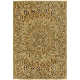 Safavieh Handmade Heritage Medallion Light Brown/ Grey Wool Rug (3' x 5')