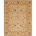 Handmade Heritage Kerman Green/ Gold Wool Rug (5' x 8')