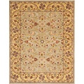 Handmade Heritage Kerman Green/ Gold Wool Area Rug (5' x 8')