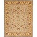 Safavieh Handmade Heritage Kerman Grey/ Gold Wool Rug (6' x 9')