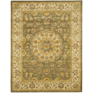 Handmade Heritage Taupe/ Ivory Wool Rug (9' x 12')