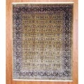 Indo Hand-knotted Farahan Gold/ Brown Wool Rug (8' x 10')