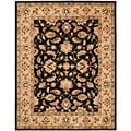 Handmade Heritage Kerman Black/ Gold Wool Rug (9&#39; x 12&#39;)