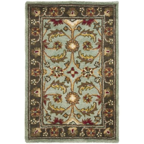 Safavieh Handmade Heritage Blue/ Brown Wool Rug (3' x 5')