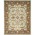 Safavieh Handmade Heritage Blue/ Brown Wool Rug (9' x 12')