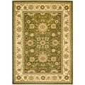 Lyndhurst Collection Majestic Sage/ Ivory Rug (4' x 6')