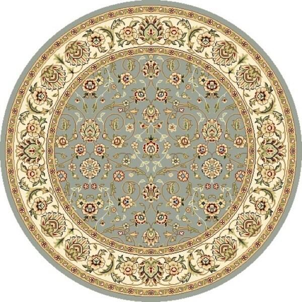Safavieh Lyndhurst Floral Motif Greyish Blue/ Ivory Rug (4' Round)