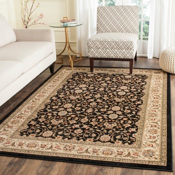 Safavieh Lyndhurst Collection Traditional Black/ Ivory Runner Rug (4' x 6')