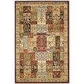 Lyndhurst Collection Traditional Multicolor/ Ivory Rug (4' x 6')