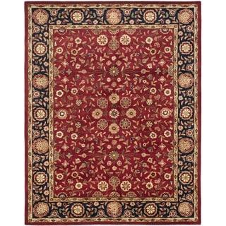 Handmade Heritage Birj Red/ Navy Wool Rug (9' x 12')