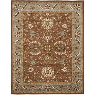 Handmade Heritage Darab Brown/ Blue Wool Rug (9' x 12')