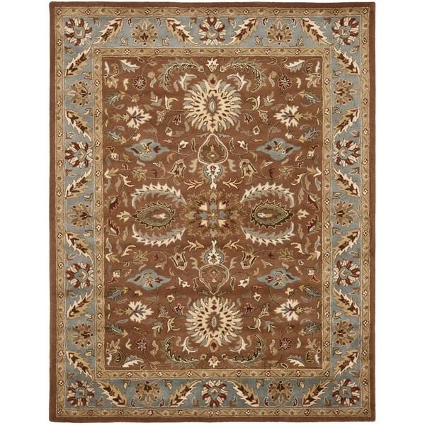 Safavieh Handmade Heritage Darab Brown/ Blue Wool Rug (9' x 12')