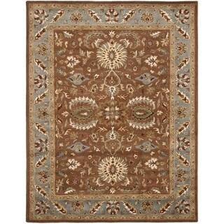 Handmade Heritage Darab Brown/ Blue Wool Rug (9' x 12')