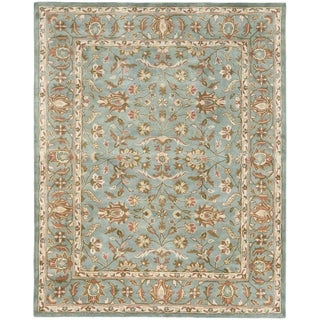 Handmade Heritage Nir Blue Wool Rug (9' x 12')