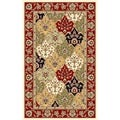 Lyndhurst Collection Multicolor/ Red Rug (4' x 6')