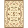 Lyndhurst Collection Traditional Ivory/ Ivory Rug (4' x 6')