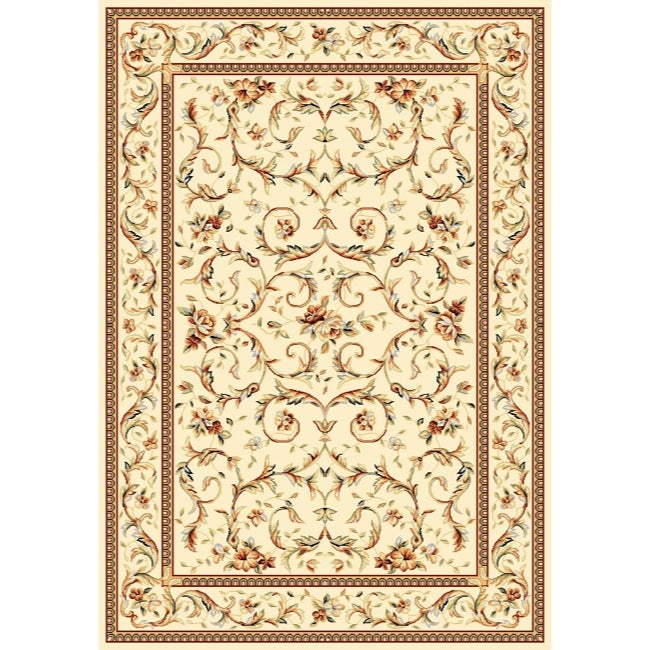 Safavieh Lyndhurst Collection Traditional Ivory/ Ivory Rug (4' x 6')