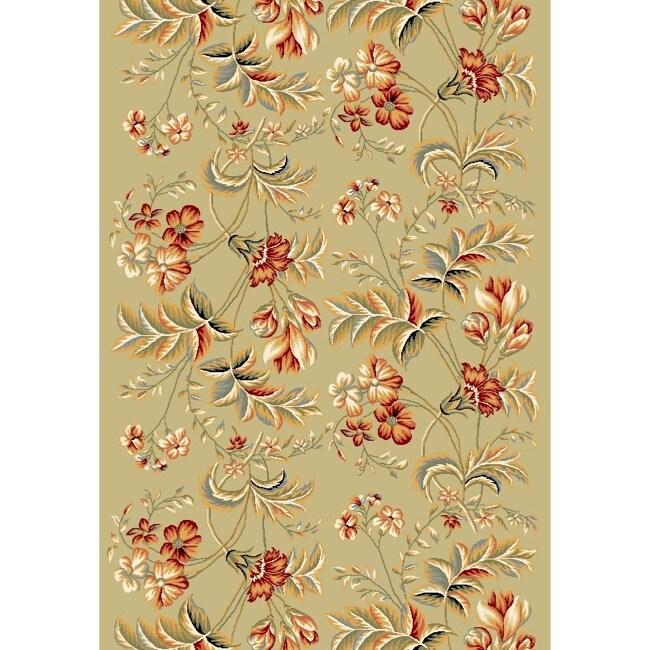 Safavieh Lyndhurst Collection Floral Sage Runner Rug (4' x 6')