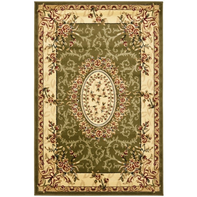 Safavieh Lyndhurst Collection Aubussons Sage/ Ivory Rug (4' x 6')
