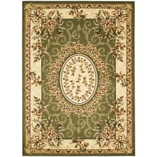 Safavieh Lyndhurst Collection Aubussons Sage/ Ivory Rug (9' x 12')