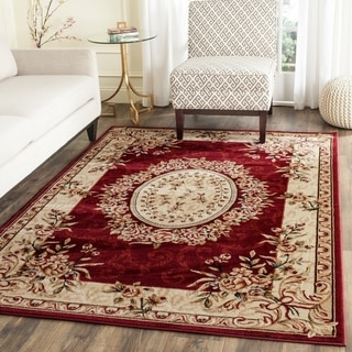 Safavieh Lyndhurst Collection Aubussons Red/ Ivory Rug (4' x 6')