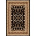 Safavieh Lyndhurst Collection Black/ Tan Rug (9' x 12')