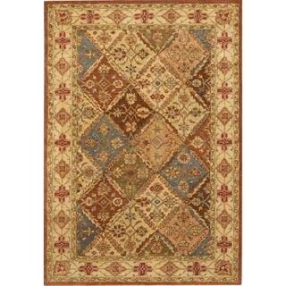 Safavieh Handmade Diamonds Bakhtiari Beige Wool Rug (6' x 9')