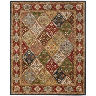 Safavieh Handmade Diamonds Bakhtiari Green/ Red Wool Rug (6' x 9')
