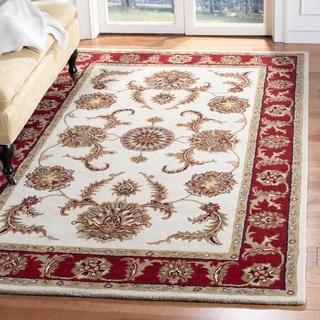 Safavieh Handmade Tabriz Ivory/ Red Wool Rug (5' x 8')