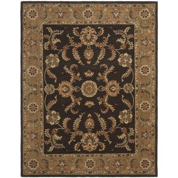 Safavieh Handmade Tabriz Brown/ Beige Wool Rug (7'6 x 9'6)
