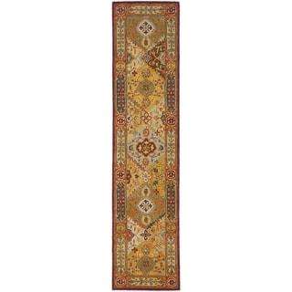 Safavieh Handmade Diamond Bakhtiari Multi/ Red Wool Rug (2'3 x 18')