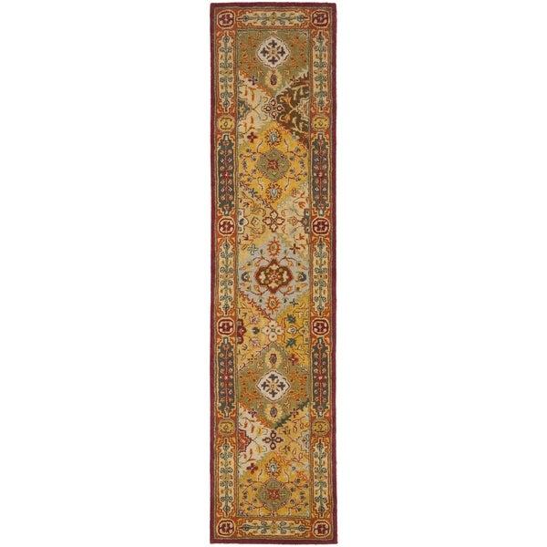 Safavieh Handmade Diamond Bakhtiari Multi/ Red Wool Rug (2'3 x 6')