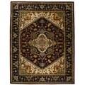 Safavieh Handmade Heritage Heriz Red/ Navy Wool Rug (9' x 12')