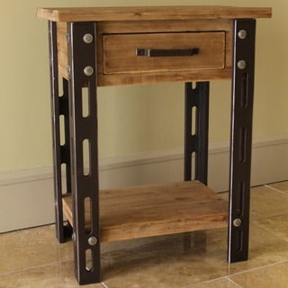International Caravan Rustic Forge One-drawer Side Table