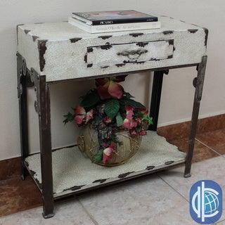 International Caravan Vintage Antique Rectangular One-drawer Hall Table