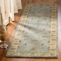 Safavieh Handmade Heritage Kashmar Light Blue/ Beige Wool Rug (2&#39;3 x 20&#39;)