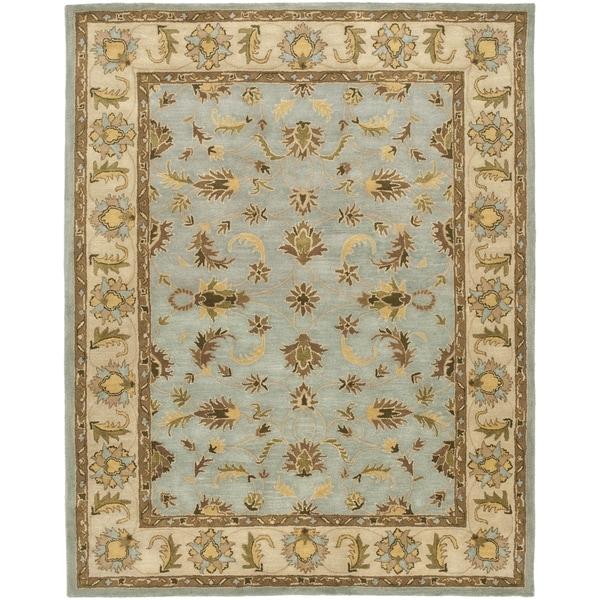 Safavieh Handmade Heritage Kashmar Light Blue/ Beige Wool Rug (9' x 12')