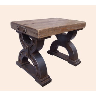 Rustic Forge Double-Horseshoe Large Stool