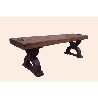 Rustic Forge Large Double-horseshoe Picnic Bench
