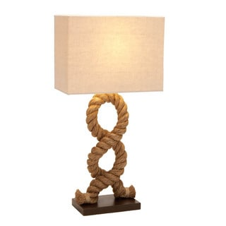 Hamptons Nautical Rope Pier Metal Table Lamp