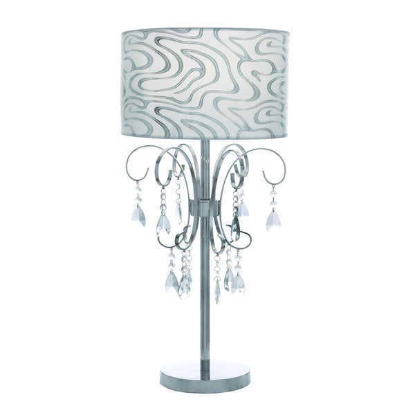 Casa Cortes French Design 27-inch Table Lamp with Crystals