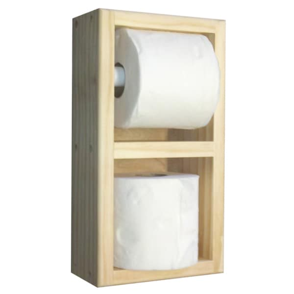 On The Wall Toilet Paper Holder With Spare Roll 14715437